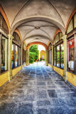 Arches in Florence in hdr. Italy Royalty Free Stock Photos