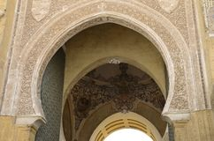 Arches of the Forgiveness door. In the mosque cathedral of Cordoba, Andalusia, Spain royalty free stock photos