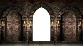 Arches and gate isolated royalty free illustration
