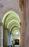 Arches in interior of gothic Cathedral Stock Images