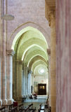 Arches in interior of gothic Cathedral. Tarragona Stock Photo