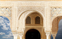 Arches in Islamic (Moorish)  style in Alhambra, Granada, Spain Royalty Free Stock Image
