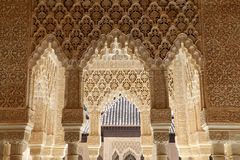 Arches in Islamic (Moorish)  style in Alhambra, Granada, Spain Royalty Free Stock Photo