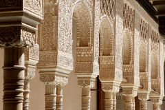Arches in Islamic (Moorish)  style in Alhambra, Granada, Spain Stock Photo