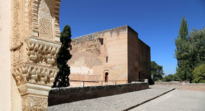 Arches in Islamic (Moorish)  style and  Alhambra, Granada, Spain Stock Images