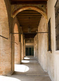 Arches, Italy. Pass under the arches, gallery, Italy Royalty Free Stock Photography