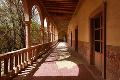 Arches at the jaral de berrio abandoned hacienda mexico Stock Photography