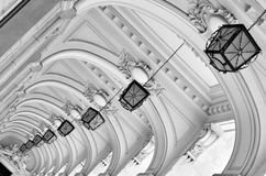 Arches and lamps - architectural details Royalty Free Stock Photos