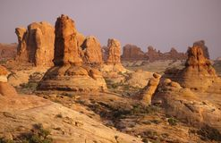 Arches Landscape. An early morning landscape shot of rock formations in Arches Nat. Park Stock Images