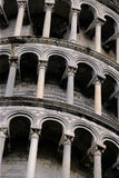 Arches of the Leaning Tower of Pisa Stock Images