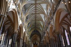 Arches of Lincoln cathedral Royalty Free Stock Photography