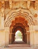 Arches of Lotus Mahal, Hampi, Karnataka, India Stock Photography