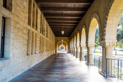 Arches of Main Quad at Stanford University Campus - Palo Alto, California, USA Royalty Free Stock Photo