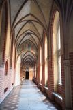 Arches in Malbork Castle, Poland Royalty Free Stock Images
