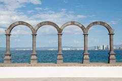 Arches on the Malecon in Puerto Vallarta Stock Photos