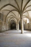 Arches in medieval cistern Royalty Free Stock Photo