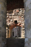 Through the arches of the medieval walls Stock Photo