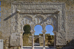 Arches in Medina Azahara Royalty Free Stock Photography