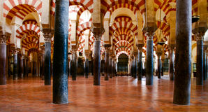 Arches of the Mezquita stock image