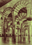 Arches of the Mezquita, Cordoba, Spain Royalty Free Stock Photography