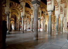 Arches of the Mezquita, Cordoba, Spain Royalty Free Stock Images