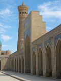 Arches and a minaret. A number of arches and a minaret Stock Photography