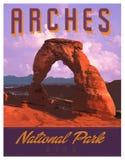 Arches MOAB National Park Art Poster Print vector illustration