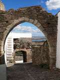 Arches in Monsaraz. Monsaraz view arches south of Portugal royalty free stock photo