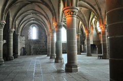 Arches in Mont St Michel. One of the foyer in Mont St Michel in the Normandy area of France stock photos
