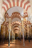 Arches of the Mosque in Cordoba Royalty Free Stock Images