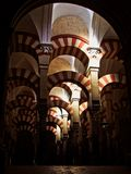 Arches of the Mosque of Cordoba Spain stock image
