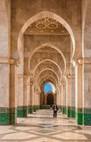 Arches at Mosque Hassan II Casablanca Morocco Royalty Free Stock Photo