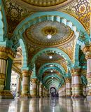 Arches of the Mysore Place and Colour riot interiors stock images