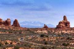 Arches National Park. Panoramic of Garden of Eden, Arches National park,utah Royalty Free Stock Images