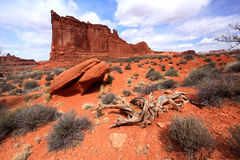 Arches National Park. Red Rock formations, Arches National Park, Utah, USA Royalty Free Stock Photography