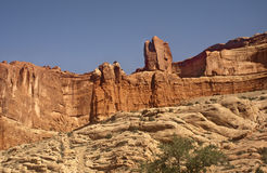 Arches National Park. Cliff side view of Arches National Park in Utah royalty free stock image