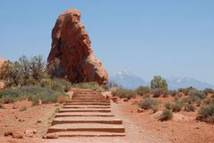 Arches National Park. In Utah, USA royalty free stock photos