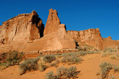 Arches National Park. Rock formations in Arches National Park, Utah, USA Royalty Free Stock Images