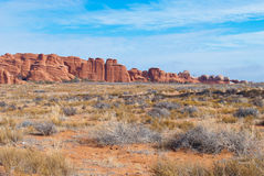 Arches National Park. A rock formation at the Arches National Park near Moab, Utah, USA Stock Photos