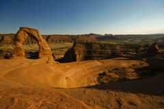 Arches national park. Rock formation in arches national park with blue sky Royalty Free Stock Photo