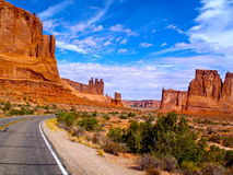 Arches National Park. Back of arches national park in utah Stock Image