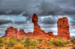 Arches National Park Balanced Rock in Utah USA Stock Photo