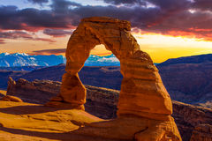 Arches National Park. Beautiful Sunset Image taken at Arches National Park in Utah stock photos