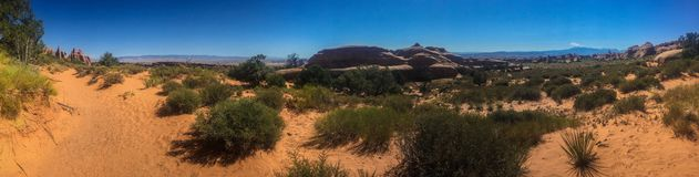 Arches national park desert panorama Stock Images