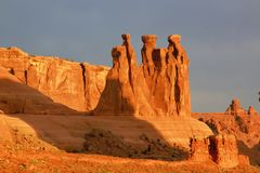 Arches National Park in the early morning light. Arches National Park has so many wonderful colors to view Royalty Free Stock Photography