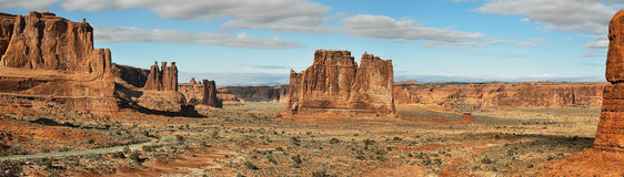 Arches national park entrance Royalty Free Stock Photos