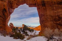Arches National Park During Government Shutdown 1-14-19 royalty free stock images
