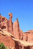 Arches National Park. The interesting rocky sculpture at Park Avenue viewpoint in Arches National Park Royalty Free Stock Photo