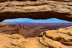 Arches National Park looking through an arch royalty free stock photos