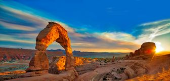 Arches Panorama. Arches National Park in Moab, Utah royalty free stock image